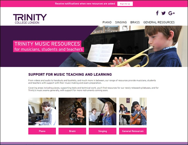 Trinity College London - Trinity launches a new music resources site
