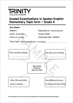GESE Grade 4 Topic form example
